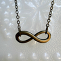 Infinity necklace- Bronze infinity necklace- Eternity -Graduation gift- Bridesmaids gift-Anniversary gift- Simple- Statement- Fall fashion