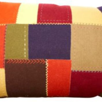 One Kings Lane - Vintage & Market Finds - Vintage Felt Patchwork Floor Cushion.