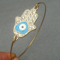 Hamsa Hand Bangle Bracelet Style 9 on Luulla