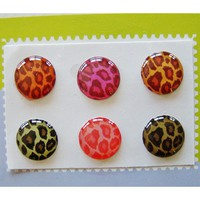 """Home"" Button Sticker for iphone/ipad/itouch, Leopard, 6 Stickers Xtra-Funky Exclusive Home Button Stickers 6-in-1 pack For ?"