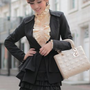 Elegant Layers Lap Ladies Jackets Black Wholesale : Wholesaleclothing4u.com