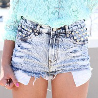 SABO SKIRT  Bleach Acid Shorts - $58.00