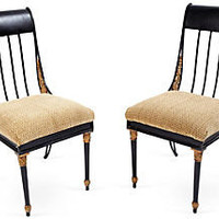 One Kings Lane - Vintage &amp; Designer Picks - Iron Chairs, Pair