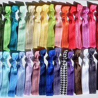 15 Elastic hair ties, pick your colors, ponytail holders, emi, foe bella, jays