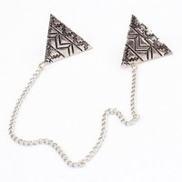 Aztec Pattern Triangular Collar Tips