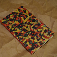 "Abstract ""1"" - Painted and Stamped Moleskine Notebook"