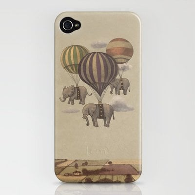 Flight of the Elephants  iPhone Case by Terry Fan | Society6
