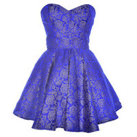 Style Icon's Closet 50s style Vintage Inspired Pin-Up African Print Retro Rockabilly Clothing — Blue Midas Party Dress