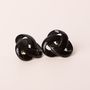 Vintage Napier Black Enamel Knot Design Screw-back earrings