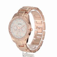 XOXO Women&#x27;s XO5386 Rhinestone Accent Rose Gold Bracelet Watch: Watches: Amazon.com