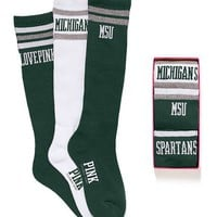 Michigan State Sock Gift Set