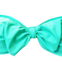 Brazilian Bow Bandeau in Seafoam