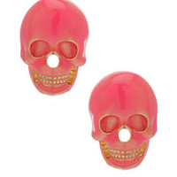 Neon Skull Stud Earrings - New In This Week  - New In