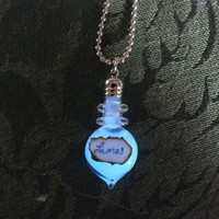 Harry Potter Lumos Glow In The Dark Glass Bottle Necklace