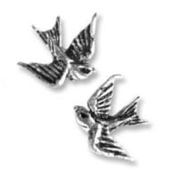 "Amazon.com: Tattoo-style ""Swallow"" Stud Earrings: Jewelry"