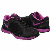 Athletics Nike Women&#x27;s FLEX TRAINER 2 Black/Magenta FamousFootwear.com