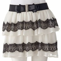 Candie's Tiered Lace Skirt