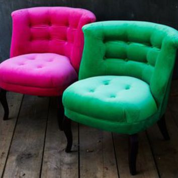Retro To Go: Velvet Tub Chair from Oliver Bonas
