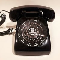 Black Rotary Phone Telephone -  Display Only Non Working