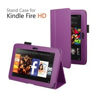 "Elsse (TM) Premium Folio Case Cover for Kindle Fire HD 7 Inch Tablet (2012 model) / Kindle Fire HD 7"" Tablet (Wake or put your device to sleep by opening or closing the case) (Purple) 