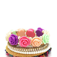 embellished-rose-bangle-set MULTIGOLD PEACHGOLD - GoJane.com