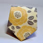 Cream, Yellow and Grey Necktie for Men or Boys - Gray and Yellow Floral Tie