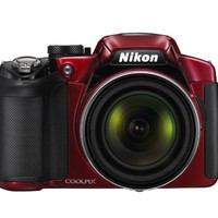 Nikon COOLPIX P510 16.1 MP CMOS Digital Camera with 42x Zoom NIKKOR ED Glass Lens and GPS Record Location (Red) | www.deviazon.com