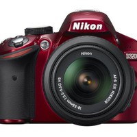 Nikon D3200 24.2 MP CMOS Digital SLR with 18-55mm f/3.5-5.6 AF-S DX VR NIKKOR Zoom Lens (Red) | www.deviazon.com