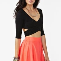 Nasty Gal Crossed Out Crop Top