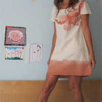 Orange Butterfly - OOAK Dress