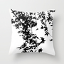 black on white Throw Pillow by ingz | Society6