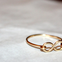 gold amare - handmade hypoallergenic 14 karat gold infinity ring by lilla stjarna - ft. 14 karat gold - gifts under 25