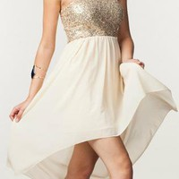 Champagne Goddess Dress - FREE GIFT W PURCHASE
