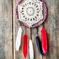 Ornament Bohemian Dreamcatcher 5in - Native Style Decoration - Handmade Artisan Jewelry