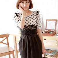 Office Lady Temperament Ladies Dresses White : Wholesaleclothing4u.com