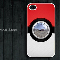 Pokemon Pokeball design unique iphone 4 case iphone 4s case iphone 4 cover