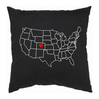 Home State Pillow - Custom USA Map - Back To School