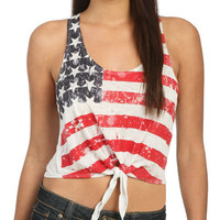 Flag Tie Front Tank | Shop Tops at Wet Seal