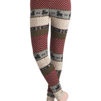 Deer Me Out Leggings in Berry | Mod Retro Vintage Pants | ModCloth.com