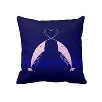 Mr. Shrimp in Love - Pillow from Zazzle.com