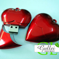 Red Heart USB Flash Drive - GULLEITRUSTMART.COM