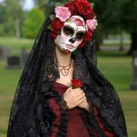 Day of the Dead/Dia de los Muertos  CUSTOM MASK by effigymasks