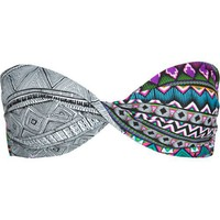 HURLEY Tribal Fusion Twist Bandeau Bikini Top