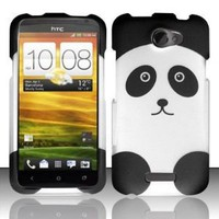 Amazon.com: Rubberized panda bear design phone case for the HTC One X carried by AT&T: Everything Else