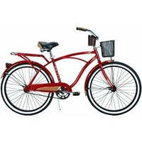 Huffy Men's Cardinal Deluxe Bike (Red Metallic, Large/26-Inch)
