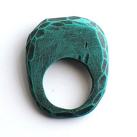 Fragment Hand Carved Ring in Turquoise