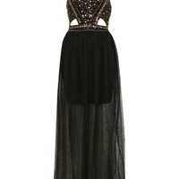 Stud Sequin Maxi Dress - Going Out