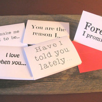 10 Romantic Notecards- make a trail of love letters