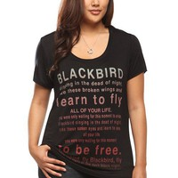 The Beatles Blackbird Lyrics Tee | Shop All New Arrivals