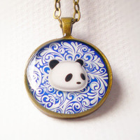 Panda Portrait Necklace - Animal Ne.. on Luulla
